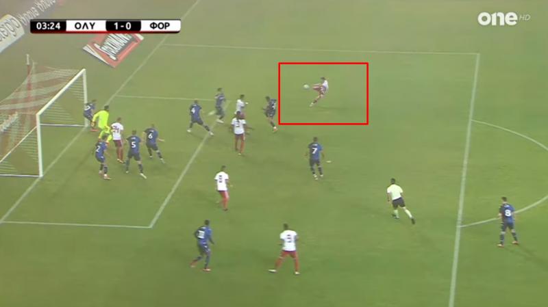 Με εκπληκτικό σουτ ο Αμφιλοχιώτης Γ. Μασούρας έκανε το 1-0 για τον Ολυμπιακό! (Βίντεο)