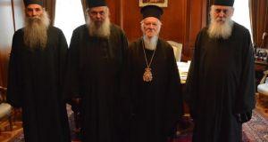 Αντιπροσωπεία της Ιεράς Κοινότητας του Αγίου Όρους στην Ιερά Καθέδρα…