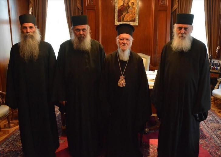 Αντιπροσωπεία της Ιεράς Κοινότητας του Αγίου Όρους στην Ιερά Καθέδρα της Μητρός Εκκλησίας