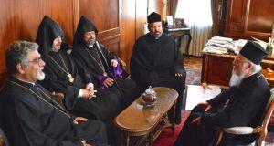 Ο Τοποτηρητής του Αρμενικού Πατριαρχείου στην Πόλη στο Οικουμενικό Πατριαρχείο
