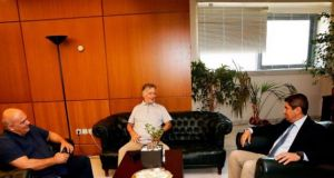 Συνάντηση Αυγενάκη με Κωστούλα και Μπελεβώνη