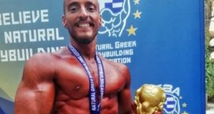 Πρώτος σε αγώνες Bodybuilding o Ναυπάκτιος Άκης Αθανασόπουλος (Βίντεο)