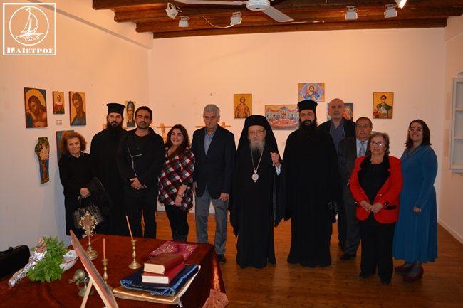 """Αμφιλοχία: Εγκαινιάστηκε η έκθεση Αγιογραφίας και Ζωγραφικής στην πινακοθήκη """"Μάργαρη"""""""