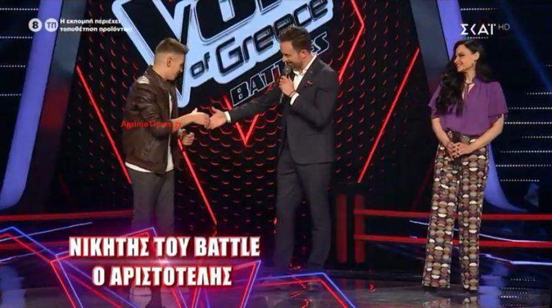«The Voice»: Πέρασε και από τα «Battles» ο Αγρινιώτης Αριστοτέλης Πολονύφης! (Βίντεο – Φωτό)