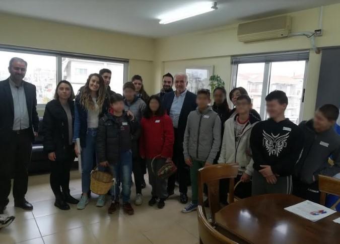 Επίσκεψη από το Ενιαίο Ειδικό Επαγγελματικό Γυμνάσιο – Λύκειο Ι.Π. Μεσολογγίου στο Δημαρχείο