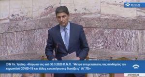 Ο Λευτέρης Αυγενάκης στην Βουλή για την τροπολογία για τα…