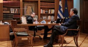 Μητσοτάκης και Τσιόδρας σχεδιάζουν τα επόμενα βήματα για την αντιμετώπιση…