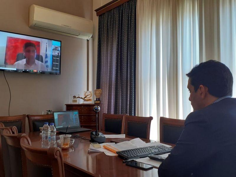 Αγρίνιο: Tηλεδιάσκεψη Παπαναστασίουμε τον Λευτέρη Αυγενάκη