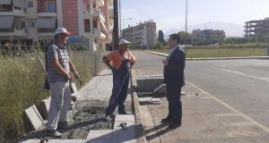 Επίσκεψη του Δήμαρχου Αγρινίου σε έργα στην Οδό Γ. Σεφέρη…
