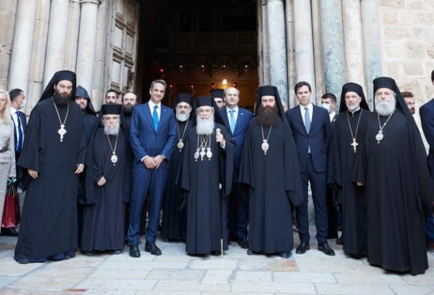 Τον Πανάγιο Τάφο και τον Ναό της Αναστάσεως επισκέφθηκε ο Μητσοτάκης