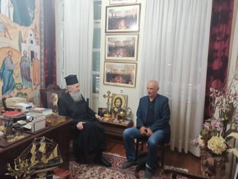 Συνάντηση Γ. Βαρεμένου με τον Μητροπολίτη Ναυπάκτου και Δήμαρχο Ναυπακτίας