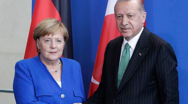 Επικοινωνία Μέρκελ – Ερντογάν για την Ανατολική Μεσόγειο