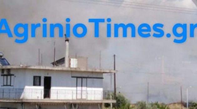 Αγρίνιο: Φωτιά κοντά στην Αστυνομία – Φωτογραφίες του AgrinioTimes.gr