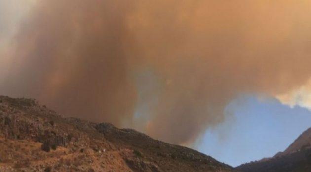 Μεγάλη φωτιά στη λακωνική Μάνη – Εκκενώθηκαν οικισμοί