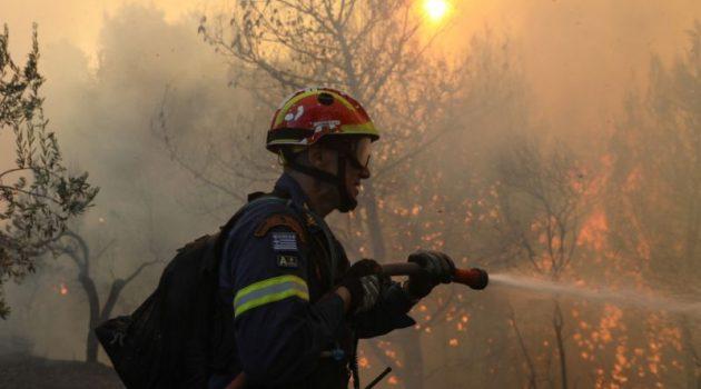 Μεσολόγγι: Υπό μερικό έλεγχο η φωτιά στις Οινιάδες