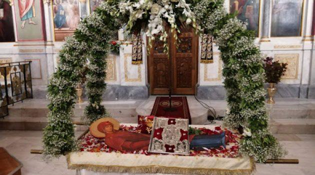 Εορτή της Κοιμήσεως της Θεοτόκου στην Αγία Τριάδα Αγρινίου