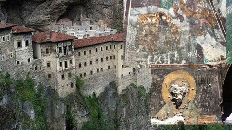 Παναγία Σουμελά: Βανδάλισαν βυζαντινές τοιχογραφίες της Μονής στη Τραπεζούντα