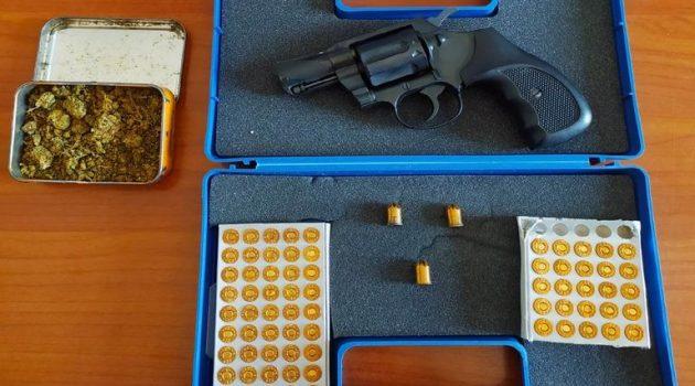 Μεσολόγγι: Σύλληψη για παράβαση του νόμου περί όπλων και κατοχή ναρκωτικών