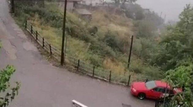 Έντονη βροχόπτωση σε περιοχές της Ορεινής Ναυπακτίας (Video)