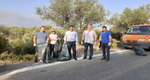Εθελοντικός καθαρισμός στη διασταύρωση Καινουργίου- Αβόρανης (Photos)