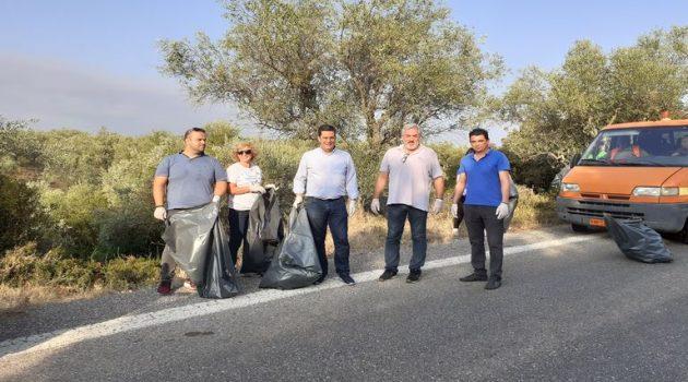 Εθελοντικός καθαρισμός στη διασταύρωση Καινουργίου – Αβόρανης (Photos)