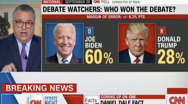 Νικητής ο Τζο Μπάιντεν στο πρώτο debate με τον Τραμπ λένε οι δημοσκοπήσεις