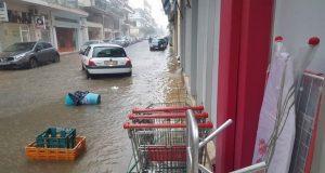 Πλημμύρισε η Ναύπακτος (Photos)