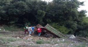 Ξηρόμερο: Φορτηγό έφυγε εκτός δρόμου