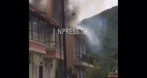 Ναύπακτος – Φωτιά σε σπίτι: Χτύπησε σε ηλιακό ο κεραυνός…
