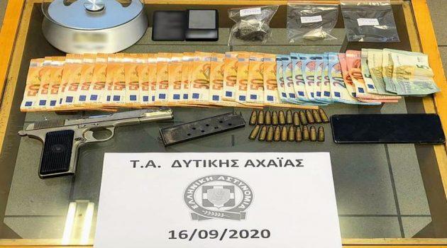 Αχαΐα: Συλλήψεις για πώληση ναρκωτικών και παράβαση του νόμου για τα όπλα