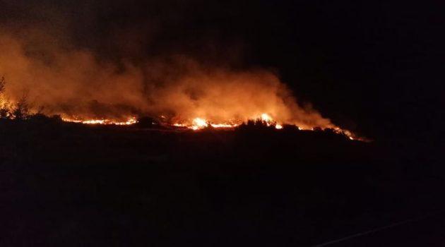 Κεφαλονιά: Μεγάλη δασική πυρκαγιά στα Φαρακλάτα (Video)