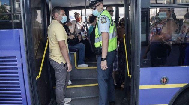 Δ. Ελλάδα: Δέκα τα πρόστιμα χθες για μη χρήση μάσκας