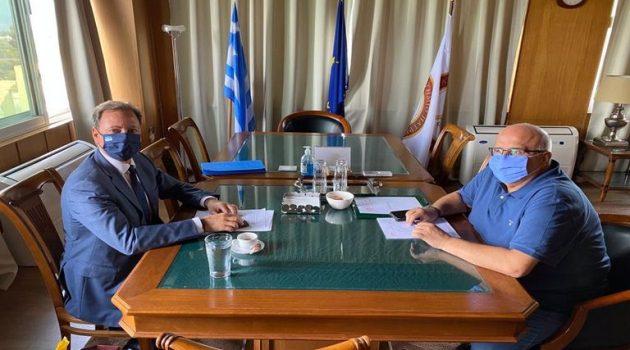Συνάντηση Σ. Λιβανού με τον Πρύτανη του Παν. Πατρών Χ. Μπούρα