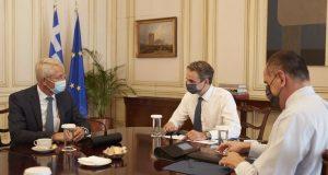 Με στελέχη της Fraport συναντήθηκε ο Κ. Μητσοτάκης