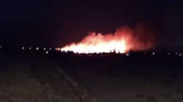Μεσολόγγι: Πυρκαγιά στο κτήμα Πετούνη