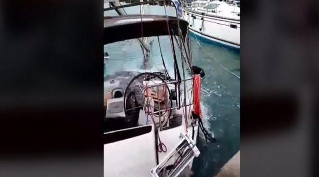 Βυθίστηκε σκάφος στο Νυδρί Λευκάδας (Video)