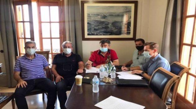 Υπογραφή σύμβασης του έργου «Αποκατάσταση πρανών στα Όχθια Παλαίρου»