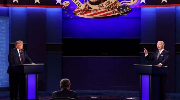 Τραμπ – Μπάιντεν: «Θα το βουλώσεις;», «Είσαι ψεύτης», «Δεν έχεις ίχνος ευφυίας πάνω σου»