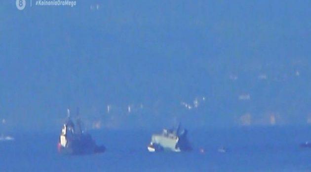 Πειραιάς: Σύγκρουση εμπορικού πλοίου με πλοίο του Πολεμικού Ναυτικού (Video)