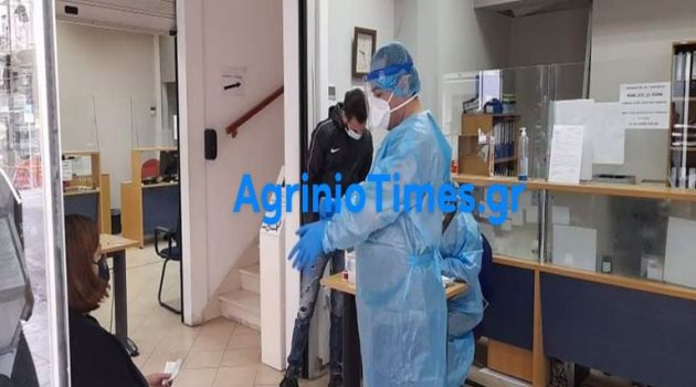 Αγρίνιο – τώρα: Ε.Ο.Δ.Υ. και απολύμανση στο Κ.Ε.Π. (Photos)
