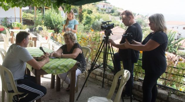 Γυρίσματα εκπομπής στην Ανάληψη Τριχωνίδας (Photos)