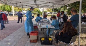 Πάτρα: Διενέργεια rapid test για τον κορωνοϊό (Photos)