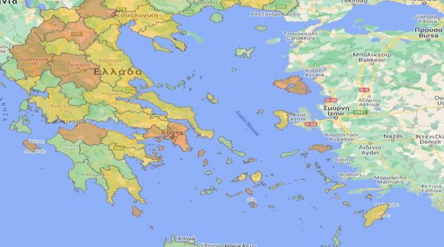 Χάρτης υγειονομικής ασφάλειας: Σε επίπεδο επιτήρησης η Π.Ε. Αιτ/νίας