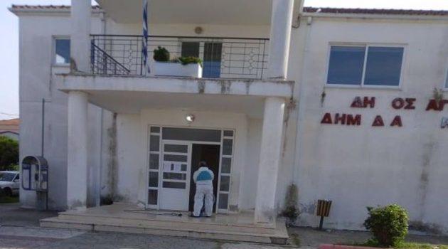 Καλύβια Αγρινίου: Κλειστό το Κοινοτικό Κτίριο, λόγω απολύμανσης (Photos)