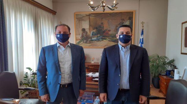 Δημαρχείο Αγρινίου: Συνάντηση Γιώργου Παπαναστασίου – Σπήλιου Λιβανού
