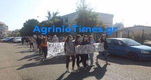 Ξεκίνησαν πριν λίγο οι πορείες μαθητών και στο Αγρίνιο (Video…