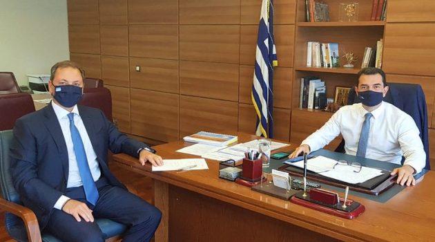 Συνάντηση Σπ. Λιβανού με τον Υφ. Αγροτικής Ανάπτυξης και Τροφίμων Κ. Σκρέκα