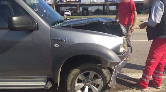Τροχαίο ατύχημα στα φανάρια κοντά στο Νοσοκομείο Αγρινίου (Photos)