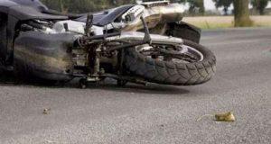 Η μοτοσυκλέτα που οδηγούσε εξετράπη της πορείας της