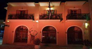 Φωταγωγήθηκε το Δημαρχείο Παλαίρου και το Δημαρχείο Βόνιτσας με πορτοκαλί…